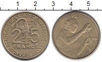 Изображение Монеты Центральная Африка 25 франков 1987 Латунь XF