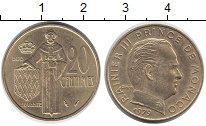 Изображение Монеты Монако 20 сентим 1979 Латунь XF