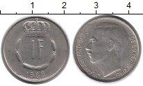 Изображение Монеты Люксембург 1 франк 1968 Медно-никель XF