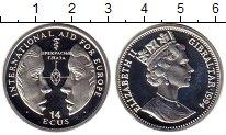 Изображение Монеты Гибралтар 14 экю 1994 Серебро Proof