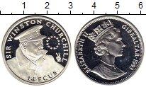 Изображение Монеты Гибралтар 14 экю 1993 Серебро Proof Уинстон Черчиль
