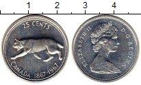 Изображение Мелочь Канада 25 центов 1967 Серебро UNC-