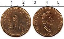Изображение Мелочь Канада 1 доллар 1995 Латунь UNC Памятник миротворцам