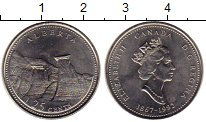Изображение Монеты Северная Америка Канада 25 центов 1992 Медно-никель UNC
