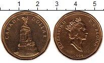 Изображение Мелочь Канада 1 доллар 1994 Латунь UNC Военный мемориал