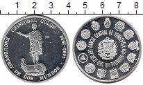 Изображение Монеты Южная Америка Венесуэла 1100 боливаров 1992 Серебро Proof-