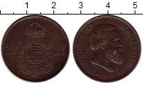 Изображение Монеты Бразилия 20 рейс 1868 Медь XF