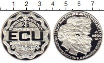 Изображение Монеты Нидерланды 25 экю 1992 Серебро Proof