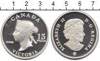 Изображение Монеты Канада 15 долларов 2008 Серебро Proof Виктория