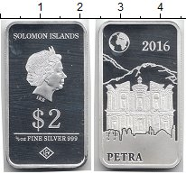 Изображение Монеты Соломоновы острова 2 доллара 2016 Серебро Proof