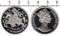 Изображение Монеты Гибралтар 14 экю 1991 Серебро Proof