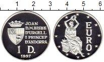 Изображение Монеты Европа Андорра 1 динер 1997 Серебро Proof