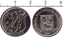 Изображение Монеты Венесуэла 25 сентим 2007 Медно-никель XF