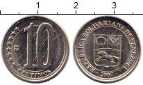 Изображение Монеты Южная Америка Венесуэла 10 сентим 2007 Медно-никель XF