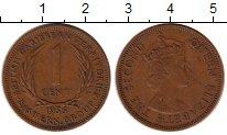 Изображение Монеты Карибы 1 цент 1955 Бронза XF Елизавета II
