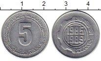Изображение Монеты Алжир 5 сантим 1985 Алюминий UNC-