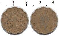 Изображение Монеты Индия 1 анна 1945 Латунь XF Георг VI