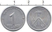 Изображение Монеты ГДР 1 пфенниг 1953 Алюминий XF А