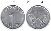 Изображение Монеты ГДР 1 пфенниг 1952 Алюминий XF Е