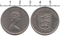 Изображение Монеты Остров Джерси 10 пенсов 1975 Медно-никель XF Елизавета II