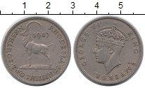 Изображение Монеты Великобритания Родезия 2 шиллинга 1947 Медно-никель XF
