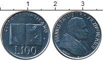 Изображение Монеты Ватикан 100 лир 1992 Медно-никель XF