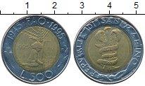 Изображение Монеты Сан-Марино 500 лир 1995 Биметалл UNC