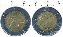 Изображение Монеты Европа Сан-Марино 500 лир 1990 Биметалл UNC