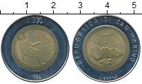Изображение Монеты Сан-Марино 500 лир 1986 Биметалл UNC