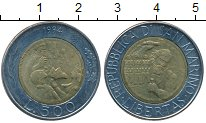 Изображение Монеты Сан-Марино 500 лир 1994 Биметалл UNC