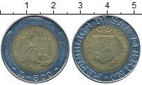 Изображение Монеты Сан-Марино 500 лир 1989 Биметалл UNC