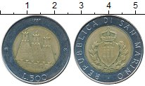 Изображение Монеты Сан-Марино 500 лир 1987 Биметалл UNC