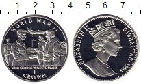 Изображение Монеты Гибралтар 1 крона 1994 Серебро Proof Елизавета II.  WWII.