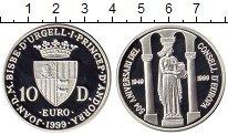 Изображение Монеты Европа Андорра 10 динерс 1999 Серебро Proof