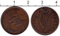 Изображение Монеты Ирландия 1/4 пенни 1944 Медь XF