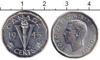 Изображение Монеты Северная Америка Канада 5 центов 1945 Цинк XF