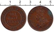 Изображение Монеты Австралия 1/2 пенни 1929 Медь VF