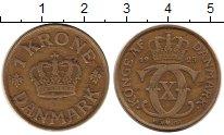 Изображение Монеты Европа Дания 1 крона 1925 Латунь VF