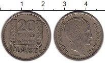 Изображение Монеты Алжир 20 франков 1949 Медно-никель XF Колония Франции