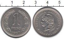 Изображение Монеты Южная Америка Аргентина 1 песо 1957 Медно-никель XF