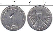 Изображение Монеты ГДР 1 пфенниг 1952 Алюминий UNC-