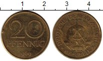 Изображение Монеты ГДР 20 пфеннигов 1969 Латунь XF