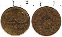 Изображение Монеты ГДР 20 пфеннигов 1971 Латунь XF А