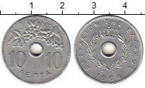 Изображение Монеты Греция 10 лепт 1964 Алюминий XF