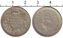Изображение Монеты Индия 1/2 рупии 1945 Серебро XF