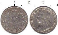Изображение Монеты Европа Великобритания 6 пенсов 1898 Серебро VF