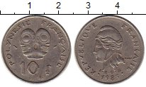 Изображение Монеты Полинезия 10 франков 1983 Медно-никель XF