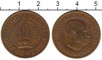 Изображение Монеты Сьерра-Леоне 1 цент 1964 Бронза XF