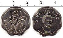 Изображение Монеты Африка Свазиленд 10 центов 2002 Медно-никель UNC