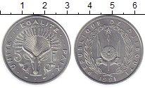 Изображение Монеты Африка Джибути 5 франков 1991 Алюминий UNC